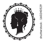 profile in the crown princess... | Shutterstock .eps vector #160240529