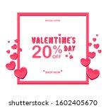 valentines day sale vector... | Shutterstock .eps vector #1602405670