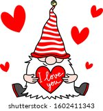 Valentine Gnome With A Red...