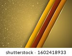 gold halftone dots and inclined ... | Shutterstock .eps vector #1602418933