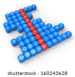 consulting dice showing... | Shutterstock . vector #160243628