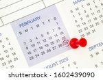 A calendar on february 29 on a...