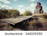 An Old Wooden Hay Trailer By A...