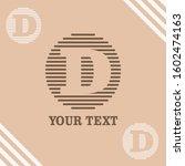 d initial logo template vector   Shutterstock .eps vector #1602474163