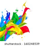 Colorful paint splash isolated...