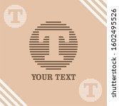 t initial logo template vector   Shutterstock .eps vector #1602495526