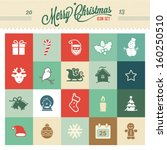 christmas icons | Shutterstock .eps vector #160250510