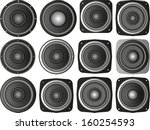 set of isolated speakers
