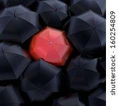 the red umbrella  beautiful... | Shutterstock . vector #160254809