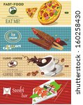 background vector with coffee... | Shutterstock .eps vector #160258430