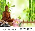 3d Wallpaper  Lucky Buddha With ...