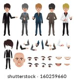 vector business man with parts... | Shutterstock .eps vector #160259660