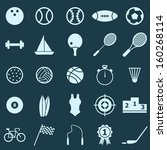 sport color icons on blue...   Shutterstock .eps vector #160268114