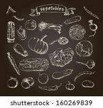 illustration of a set of hand... | Shutterstock . vector #160269839