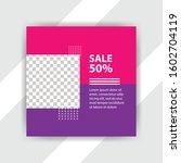 social media pack. business... | Shutterstock .eps vector #1602704119
