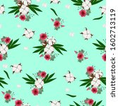 seamless pattern with cotton... | Shutterstock .eps vector #1602713119