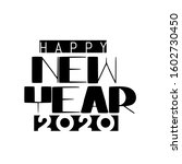 happy new year 2020  modern... | Shutterstock .eps vector #1602730450