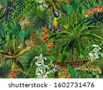tropical seamless pattern with... | Shutterstock . vector #1602731476