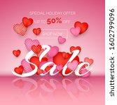 valentines day sale. banner for ... | Shutterstock .eps vector #1602799096