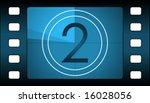 vector film countdown. number 2.   Shutterstock .eps vector #16028056
