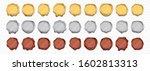 golden wax stamp  vector icons. ... | Shutterstock .eps vector #1602813313