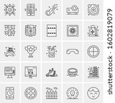 set of 25 universal business... | Shutterstock .eps vector #1602819079