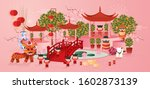 chinese new year lunar new year ... | Shutterstock .eps vector #1602873139