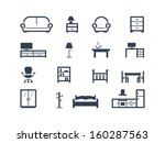 furniture icons | Shutterstock .eps vector #160287563