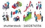 efficient teamwork elements... | Shutterstock .eps vector #1602876556