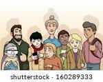 group of random  various people ... | Shutterstock .eps vector #160289333