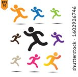 runner icon. runner...