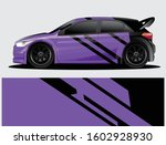 rally car decal graphic wrap... | Shutterstock .eps vector #1602928930