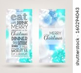 merry christmas and happy new... | Shutterstock .eps vector #160294043
