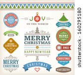 christmas decoration vector... | Shutterstock .eps vector #160295180