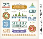 christmas decoration vector... | Shutterstock .eps vector #160295183