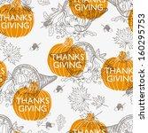 vector seamless thanksgiving ... | Shutterstock .eps vector #160295753