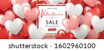 happy valentine's day sale... | Shutterstock .eps vector #1602960100