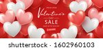 happy valentine's day sale... | Shutterstock .eps vector #1602960103