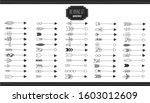 big set black scribble arrows...   Shutterstock .eps vector #1603012609