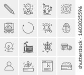 16 universal business icons... | Shutterstock .eps vector #1603025596