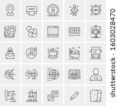 set of 25 universal business... | Shutterstock .eps vector #1603028470