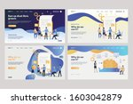 collection of business analysts ... | Shutterstock .eps vector #1603042879