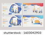 set of analysts working with... | Shutterstock .eps vector #1603042903