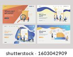 collection of workers analyzing ... | Shutterstock .eps vector #1603042909