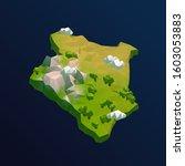 kenya vector low poly 3d... | Shutterstock .eps vector #1603053883