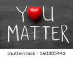 you matter phrase handwritten... | Shutterstock . vector #160305443