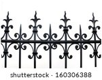 Part Of A Wrought Iron Fence O...