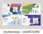 set of employees planning work... | Shutterstock .eps vector #1603072090