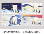 set of employees analyzing... | Shutterstock .eps vector #1603072093