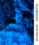 neon blue abstract art painting ... | Shutterstock . vector #1603086916